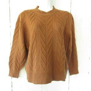 Joie Sweater Wool Cashmere Puff Sleeve Pullover